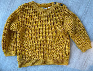 ZARA baby little boy mustard knit pull over sweater 2-3Y ...