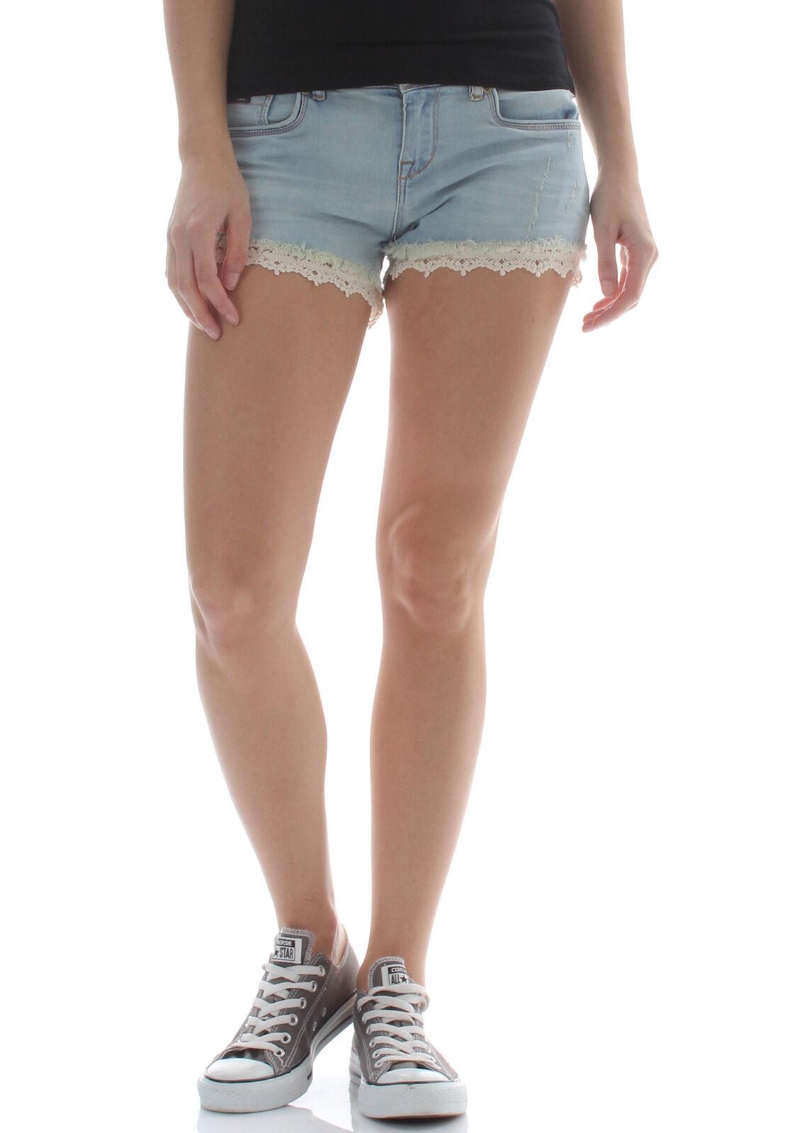 Superdry Shorts Women Lace Trim Hot Shorts Canyon Tint