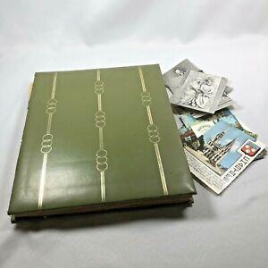 Vintage-European-Travelogue-Scrapbook-Album-Book-Journal-Postcards-France-Italy