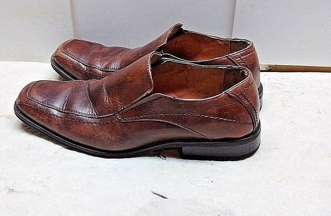 Joseph Abboud Men Brown Leather Loafer Apron Toe Dress Casual Comfort shoes 9.5M