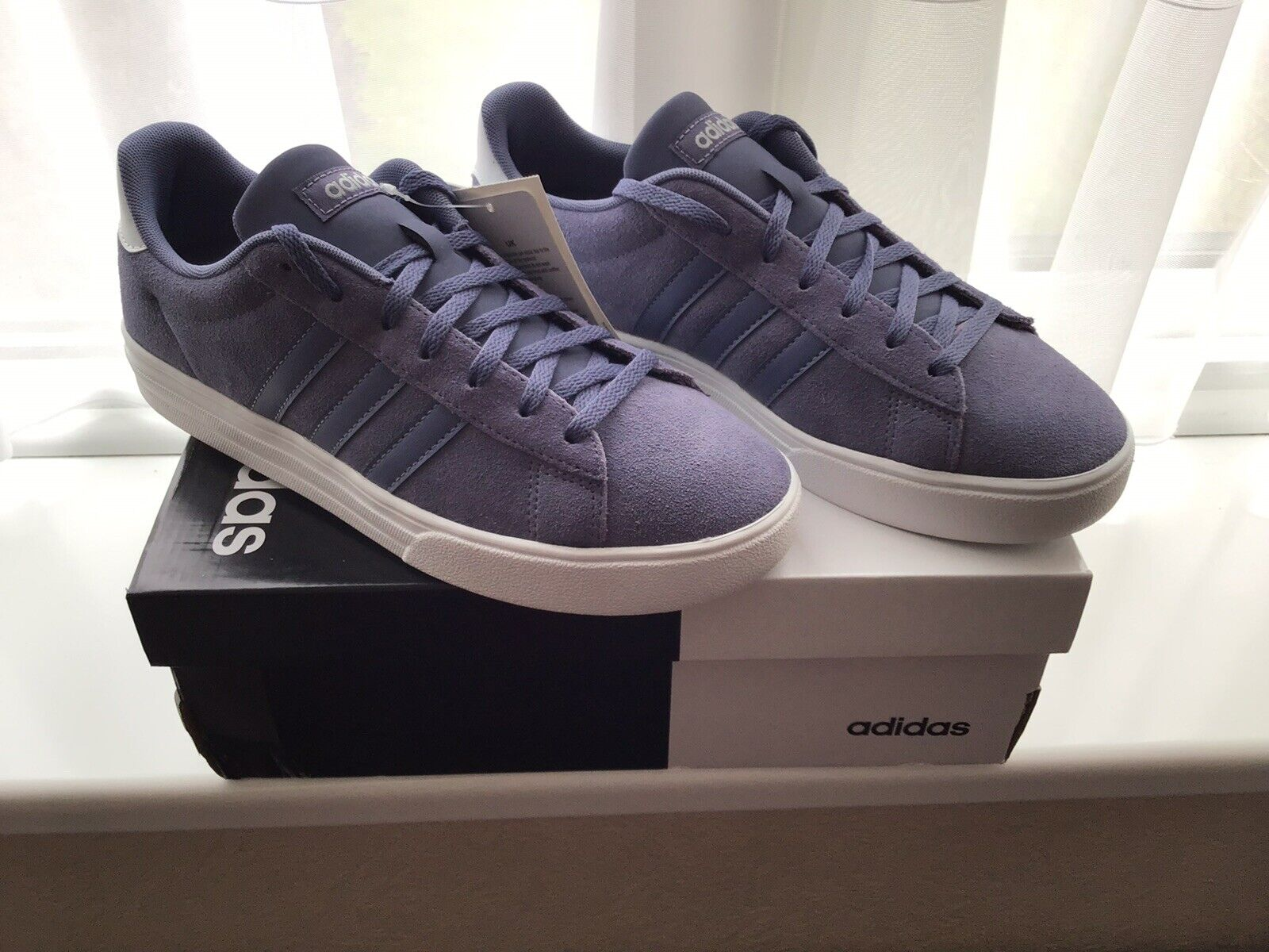 Adidas Daily 2.0 Trainers In Indigo - Size 7
