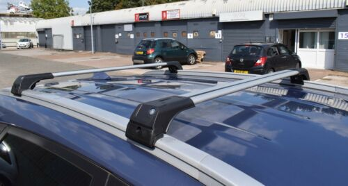 Ford Galaxy 2010-2015 barra transversal de Aluminio Bloqueable Rack 75 kg de carga Gris