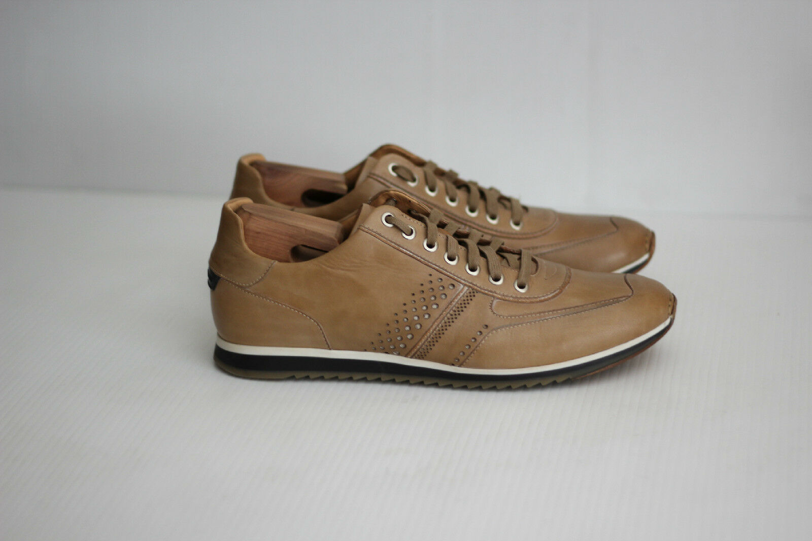 Magnanni 'Cristian' Lace Up Leather Sneakers - Natural Taupe -  Size 9.5 M (B98)