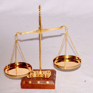 antique brass weighing scale balance justice law scale decoration