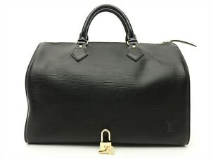 43ab4a444b91 Louis Vuitton Authentic Epi Leather Black speedy 30 Purse Hand Bag ...