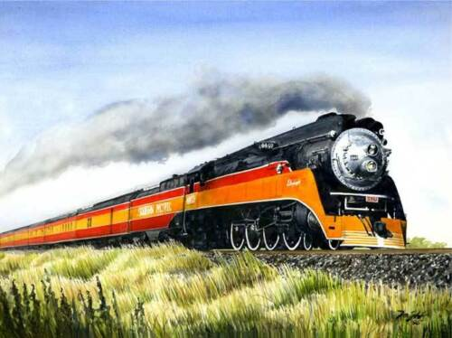 "/""Daylight/"" Don Feight Railroad Giclee Print Southern Pacific /'Coast Daylights/'"