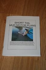 How to build a Short Tailed Mud Motor plans, surface drive mud Motor plans, .