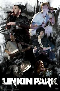 LINKIN-PARK-POSTER-FACES-LIVE-24x36-Music-Chester-Bennington-Rob-Bourdon