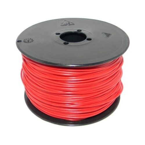 (0,14€/m) 100 Meter Spule Litze / Kabel 0,25mm² ROT