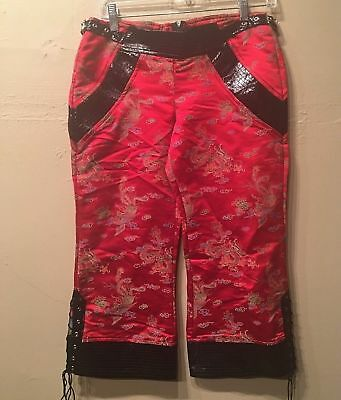 """Lip Service /""""All Edged Out/"""" Women/'s Polyester Embroidered Cuff Pants"""