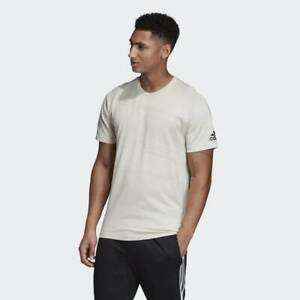 BRAND-NEW-50-adidas-Men-039-s-ID-JACQUARD-TEE-DU1118-Raw-White