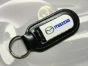 MAZDA Key Ring Etched and infilled On Leather NEW CX-5 CX-9 MX-5 BT-50 MX6 CX-3