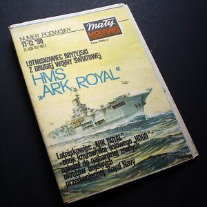HMS-Ark-Royal-Aircraft-Carrier-Maly-Modelarz-Poland-Cut-Out-Model-Kit-1990