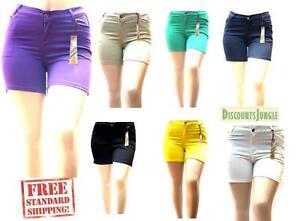 NEW 1826 jeans Womens Plus Size Twill Cotton Stretch CAPRI Pants Solid Colors