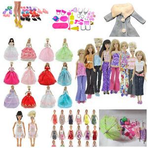 Bambola-Barbie-Abiti-SZ-Completo-Abito-Guardaroba-Bikini-Biancheria-intima-Scarpe-Jeans-GRATIS-P-amp