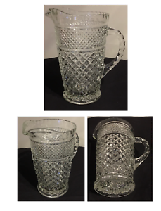 VINTAGE-Anchor-Hocking-WEXFORD-Clear-Glass-Pitcher-64-oz