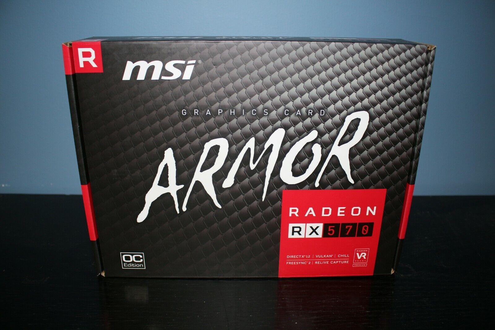 MSI AMD Radeon RX570 ARMOR 4GB GDDR5 OC Edition Graphics Card 2