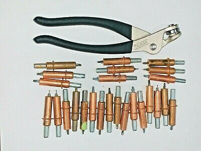 """Clecos 25 New 1//8/"""" Cleco Fasteners w// New Pliers"""