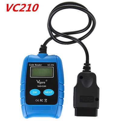 Vgate VC210 VAG CAN BUS Fault OBD OBD2 Code Reader Scanner ABS AirBag Reset Tool