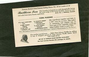 EARLY-1900-039-S-AUNT-JEMIMA-RESTAURANT-RECIPE-POST-CARD-BUCKHORN-INN-GATLINBURG-TN