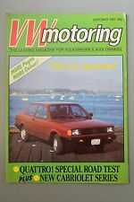 R&L Mag: VW motoring October 1987 VW Fox/BDR 95B Beetle/Audi Quattro Test