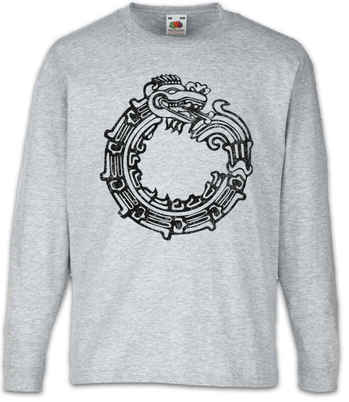 Aztec Ouroboros Kids Long Sleeve T-shirt Indians Indian Sign Mayans Religion
