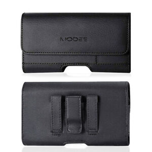 Reiko Leather Belt Clip Case Pouch for Phones COMPATIBLE WITH Otterbox Holster