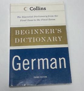 Diccionario-De-Aleman-Collins-principiante-por-personal-HarperCollins-UK-2007-libro-de-bolsillo