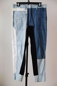8702554085a PHILIPP PLEIN WOMENS DENIM BLUE BLACK BEIGE PANTS JEANS BLOCKS Size ...
