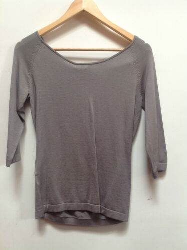 Max Mara Sabina Light Grey Silk Mix Top     RET £215    BNWT