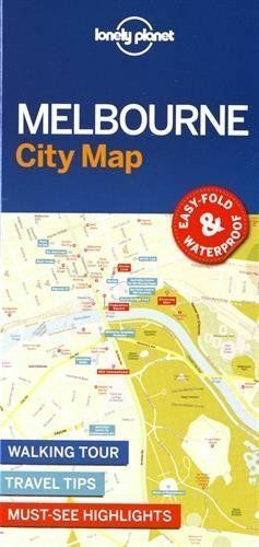 LONELY PLANET 2017 NEW MELBOURNE CITY MAP