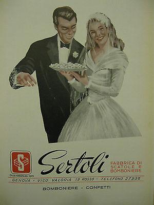 Bomboniere Matrimonio Genova.Stampa Antica Pubblicita Sertoli Bomboniere Confetti Genova