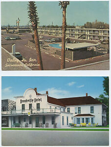 Valley-Hi-Inn-Sacramento-California-1960s-Cars-amp-Brookville-Hotel-near-Salina-KS