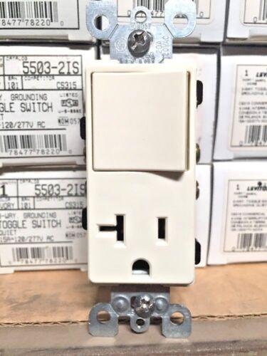 K Leviton Combo Decora 3-Way Switch 5650-A Box Of 10