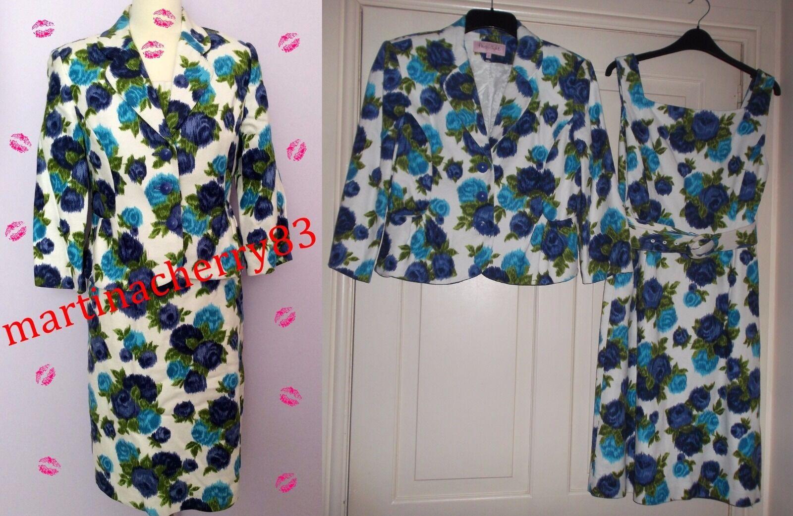 Phase Eight Mother of Bride Floral Women's Jacket Wedding Bolero sz 12 used once