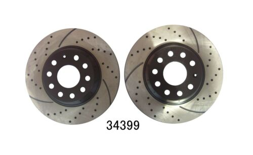Rear Disc Brake Rotor Kit Drilled and Slotted Brake Rotor Only Set