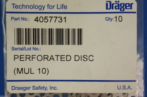 Details about  /Drager 4057731 Perforated Disc ~ Pack of 10