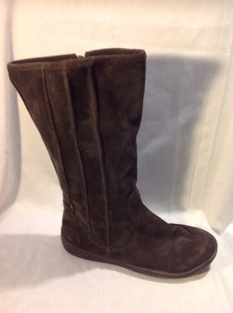 Hobos Dark Brown Mid Calf Suede Boots Size 5