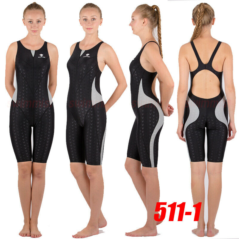 NWT HXBY 511-1 COMPETITION TRAINING RACING SHARKSKIN KNEESKIN L US MISS 4-6 Sz30