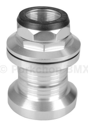 """En alliage d/'aluminium Old school BMX Bicyclette Casque 1/"""" Filetage 32.5 mm Cups Silver"""