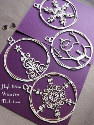 Scrapbook die cut-out MDF large craft Christmas toppers cardmaking 1mm thick