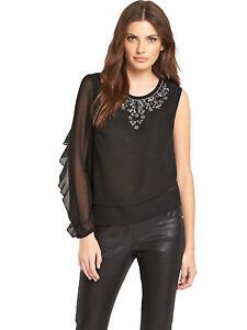e6ce449956995f Tunika Gr.48 50 Shirt Bluse Strass Chiffonshirt Festlich Damen Top ...
