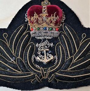 1960-039-s-ROYAL-AUSTRALIAN-NAVY-CHAPLAIN-OFFICER-039-S-UNIFORM-CAP-BADGE-R-A-N-R-N