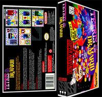 Tetris And Dr Mario - Snes Reproduction Art Case/box No Game.