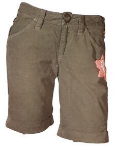 più foto 82d39 f22ba Dettagli su Pantalone corto Short Pantaloncino Invernale Donna Vellutino  INDIAN ROSE44 45 46