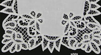 Battenburg Lace White Placemat Table Runner With Hand Embroidery