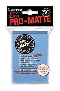 50-ULTRA-PRO-Pro-Matte-Deck-Protector-Card-Sleeves-Standard-84188-Light-Blue