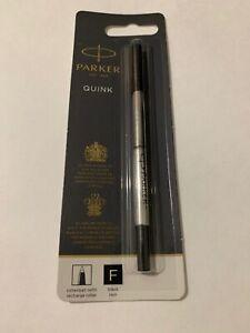 NEW PARKER QUINK BLACK INK ROLLERBALL REFILL-FINE POINT-FRANCE-BLISTER PACK. oYhhozDN-09171013-930658597