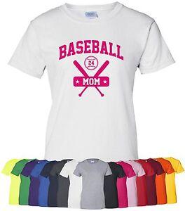 Personalized-034-Baseball-Mom-034-Ladies-Tee-or-T-Shirt-Sz-S-4XL-custom-sports-mother