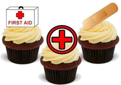 First Aid Kit Mix Stand Up Premium Card Cake Toppers